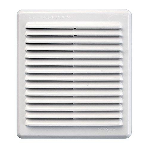 2x60M Bandes de ventilation//grille davant-toit en PVC lamin/é blanc 50mm