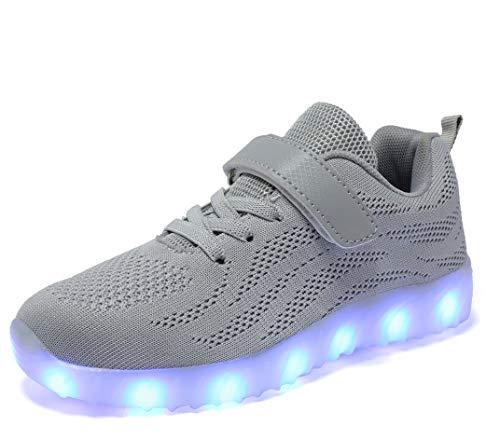 adituob Jungen led leuchten schuhe luminous flashing turnschuhe für / eu 36 3.5 UK
