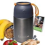 Limes 8 Thermobehälter Lunchbox 700ml Edelstahl Isolierbehälter, Food Jar auslaufsicherer Speisebehälter Essen, Thermo Gefäß Babynahrung Speisegefäß Diätkost Müsli to go