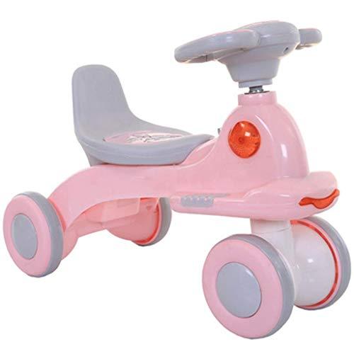 Upgrade Triciclo Triciclo Triciclo Present Trike Baby Balance Bike, Niños Twist Car Yo Yo Coche de juguete de cuatro ruedas Coche con columpio para bebés con música para hombres y mujeres de 1 a 3 año