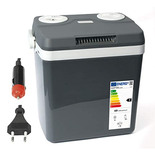Dino Fuerza nevera del paquete de 12V 230V (calienta y enfría) Altura: 44cm nevera portátil eléctrica calor Caja Termoeléctrica thermowelt para Auto Barco camping, a + + con modo ECO