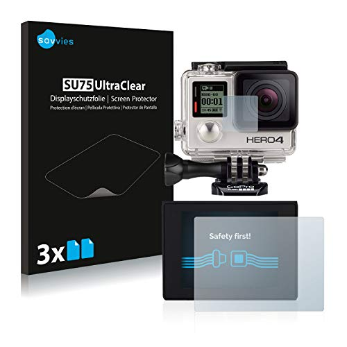 savvies Protection Ecran Compatible avec GoPro Hero4 Black (6 Pièces) - Film Protection Ultra Clair