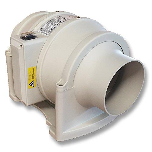 QMF100S Aerauliqa Zentrifugalventilator Durchmesser 100 mm - 32/32 W - 234/205m3/h - 002844-2 Geschwindigkeiten