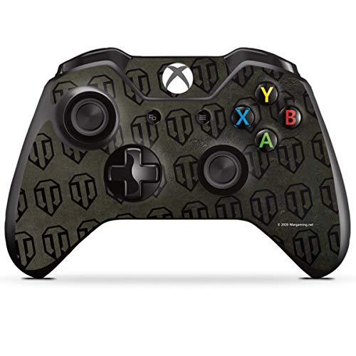 DeinDesign Skin kompatibel mit Microsoft Xbox One Controller Folie Sticker Logo Muster World of Tanks