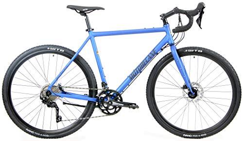 Motobecane Gravel X Pro Hydraulic Disc Brake Disc Brake 20 Speed Gravel Super Road Bike (Nautica Blue, 56cm fits Most Cyclist 5'9' to 6')