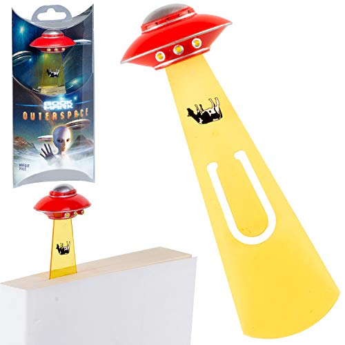 Bookmarks from Outer Space Novelty Fun UFO Book Mark Reading Book Lover Gift – Red UFO