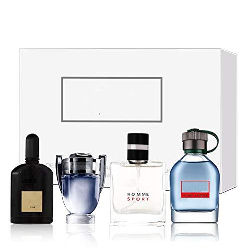 Eau de Parfum para él, Perfume para hombre en Colonia, Perfume para caballero de larga duración 4 x 25 ml, Fragancia portátil de larga duración, para regalo de Navidad de Acción de Gracias