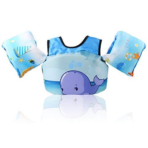 HOFOUND Schwimmjacke für Kinder von 2-5 Jahre 14-25kg Schwimmflügel und verschiedenen Designs für Kleinkinder zum Schwimmenlernen für Jungen und Mädchen