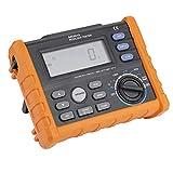 Multímetro digital PEAKMETER, medidor de resistencia digital MS5910 manual y rango automático, mide el voltaje de contacto, resistencia de bucle naranja con negro