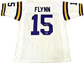 Matt Flynn Signed Autographed Lsu Tigers #15 White Jersey Coa - Autographed College Jerseys
