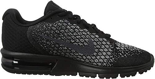 Nike Damen WMNS AIR MAX Sequent 2 Laufschuhe, Mehrfarbig (Black/MTLC Hematite/Dark Grey/Wolf Grey 010), 39.5 EU