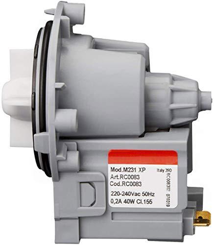 MIRTUX Bomba de Desagüe Universal magnética para diferentes Modelos de Lavadoras: LG, Otsein, Samsung, Zanussi, Corberó, Gorenje y Askoll. Modelo M231 / M332 / T2124