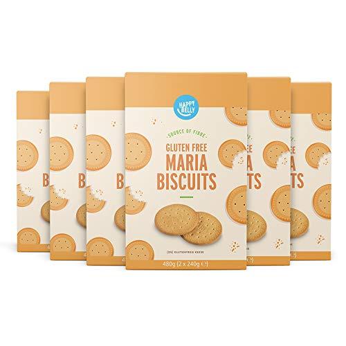 Marca Amazon - Happy Belly Galletas María sin Gluten, 6 x 480g