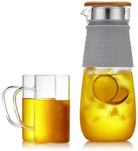 ZHIFENCAO Tetera de Cristal Tetera Taza Tetera de la Caldera de Cristal de Alta Temperatura del hogar de Cristal Hervidor de Agua fría Conjunto Engrosamiento de la Botella de Agua del Filtro en frío