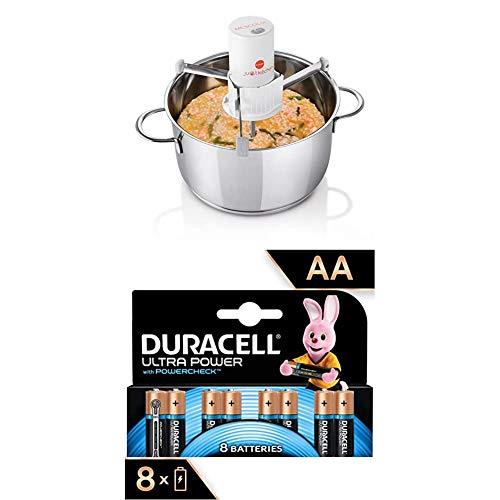 MACOM Just Kitchen 860 Mescolix Mescolatore Elettrico Automatico + Duracell LR06 MX1500 Ultra AA con Powercheck - Batterie Stilo Alcaline, Confezione da 8 Pacco del Produttore, 1.5 V