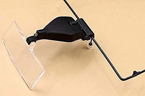 Double Glasses-ste Glas mit LED-Leuchten Uhr Reparatur Wartung Kopfverschleiß Reparatur Tisch Antik Verbessern