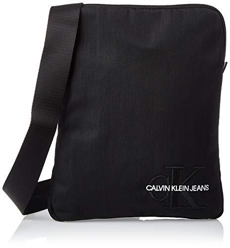 Calvin Klein Monogram Nylon Flatpack - Organizer borsa Uomo, Nero (Black), 1x1x1 cm (W x H L)