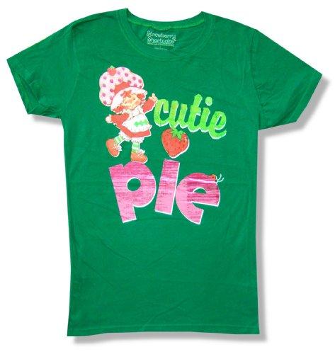 Strawberry Shortcake Cutie Pie Girls Juniors Green T Shirt (Large)