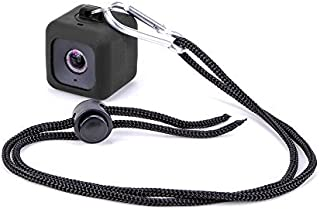 Minisuit Pendent Case for Polaroid Cube HD with Necklace Lanyard and Carabiner Clip - Black [並行輸入品]