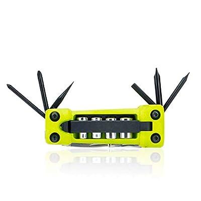 JAKEMY Bike Repair Tool Kit - 17-Function Bike Multi Tool for Mountain Biking and Cycle Repair with Socket, Knife, Multi Screwdriver