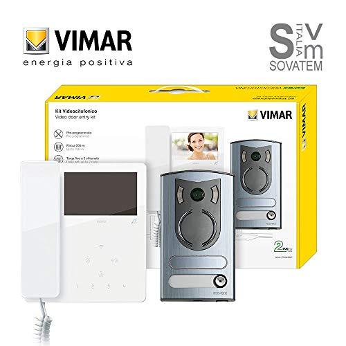Kit videocitofonico mono/bifamiliare 2 fili Serie TAB - 13F2