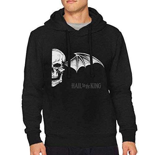 Sunmoon Men's Basic Soft Cotton Cute Avenged Sevenfold Pullover Long Sleeve Hoodies Black
