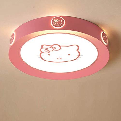 LED plafonnier lumière blanche chaude Lampe Plafond rose Hello Kitty chambre d'enfants éclairage de plafond filles garçons chambre lampe salon lampe enfants couloir applique murale 3000 K,Ø42cm~26w