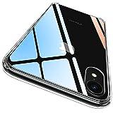 CASEKOO iPhone XR ケース クリア 薄型 指紋防止対策 耐衝撃 透明カバー 衝撃吸収 四隅滑り止め ワイヤレス充電対応 アイフォン XR ケース 6.1インチ PC背面+TPUバンパー ハイブリッド