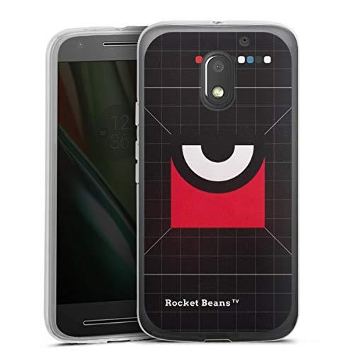 DeinDesign Silikon Hülle kompatibel mit Lenovo Moto E3 Hülle transparent Handyhülle Rocket Beans TV Offizielles Lizenzprodukt Auge