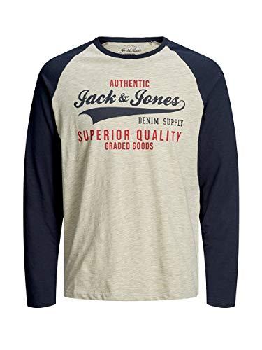 JACK & JONES Male Longsleeve Logoprint MNavy Blazer