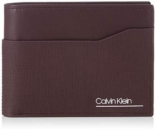 Calvin Klein Herren Worked 5cc Coin Geldbörse, Rot (Merlot), 0.1x0.1x0.1 centimeters