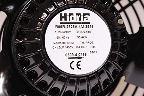 HIDRIA R09R-2525A-4M-2516 Ventilator für Afinox Drehrichtung saugend 1310/1470 U/min 50/60Hz Höhe 80mm Kabel 2.000mm 48/55W 230V
