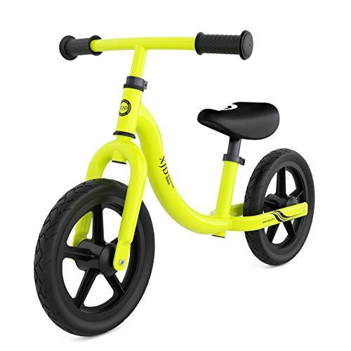 XJD Laufrad Lauflernrad ab 18 Monate Höhenverstellbare Sattel und Lenker Erste Fahrrad Max.30 KG Spielzeug für Kinder 18 Monate -5 Jahre (Apfelgrün)