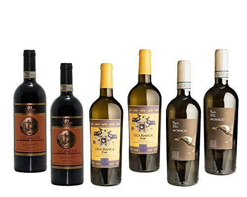 Ocone Vini del Sannio 1910-2 x Aglianico del Taburno DOCG - 2 x Fiano Beneventano IGT - 2 x Taburno Falanghina del Sannio DOC - Bottiglie da 75cl
