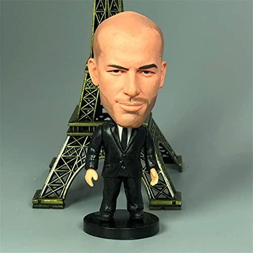 Aolongjs Figura Juguete Madrid Soccer Star Player Figuras Muñecas Juguetes Taza Europea Fans Souvenir (Color : Zidane 2)