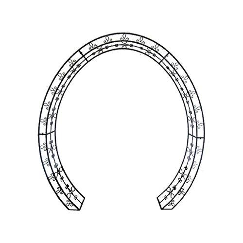 Unbekannt VARILANDO ovaler Rosenbogen Lamos aus Metall im antik-Look Rankhilfe Wachstumshilfe 220 cm