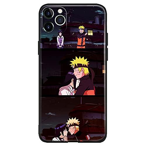 Naruto Uzumaki y Hinata Hyuga Anime Japonés Manga Compatible con iPhone Funda Carcasa Carcasa Carcasa (Silicona Mate), iPhone 12