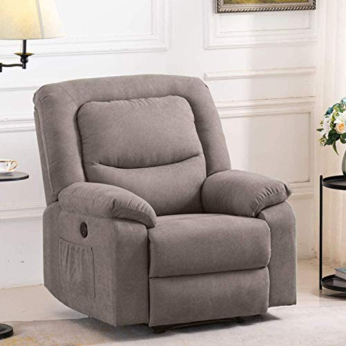 B BAIJIAWEI Fabric Electric Recliner Chair - Heated Vibration Massage Sofa with USB - Microfiber Reclining Sofa for Home, Living Room, Bedroom
