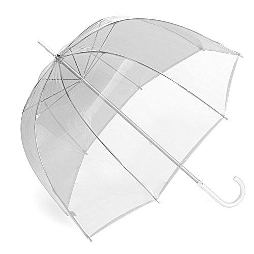 """46"""" Full Size Adult Clear Plastic Dome Bubble Rain Umbrella"""