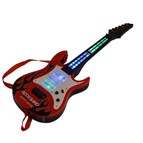 Koyae Guitarra para Niños, 4 Cuerdas Guitarra Electrica Niños, Rock Guitarra de Juguete con Correa, Niño/Niña de 2-6 años Regalo Cumpleaños Navidad Reyes