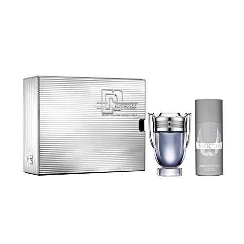 Paco Rabanne Invictus Eau de Toilette 100 ml + Desodorante Spray 150 ml, 0.25 g