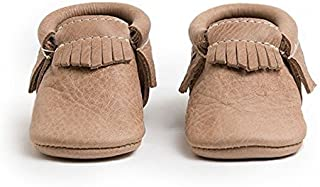 Freshly Picked - Soft Sole Leather Moccasins - Newborn Baby Girl Boy Shoes - Multi-Color (Weathered Brown)