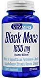 Black Maca 1600mg Equivalent 4:1 Extract – 200 Capsules – Black Maca Supplement – Helps to Support a Strong Reproductive System