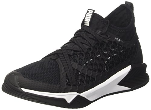 Puma Ignite XT Netfit, Zapatillas Deportivas para Interior Mujer, Negro (Black-White), 39 EU
