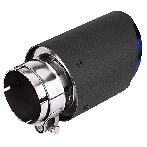 Hlyjoon Tubo de Escape Tubo de Cola de Negro Escape de Coche Posterior Silenciador Tail Pipe Tubería de Escape Puntas de Escape para Tubo de 60mm de Diámetro