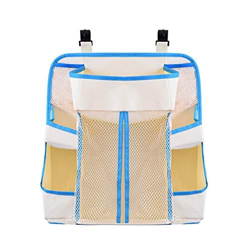 JIEHED Diaper Storage- Nursery Organizer Baby Diaper Caddy Hanging Organization Storage Bag for Crib