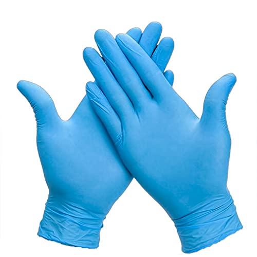 Kuyoly Guantes desechables de nitrilo cómodos para trabajos domésticos preparación de alimentos protección de fábrica e investigación resistente al aceite resistente a la abrasión (10, grande)