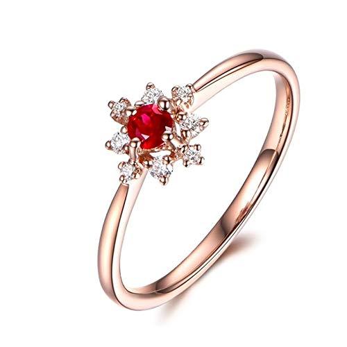 Cenliva Yellow Gold Rings Women, 18K Gold 0.14ct Diamond Accented Tourmaline with Diamond VVS1-VVS2 Ring Size J 1/2