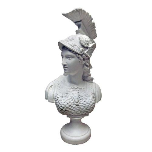Design Toscano Minerva, Römische Göttin der Weisheit: Skulpturale Büste aus Marmor-Kunstharz