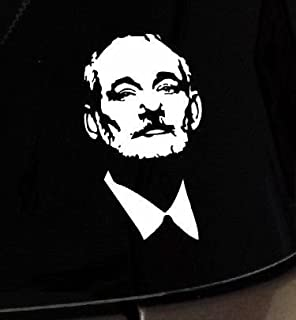 Bill Murray Outline Face Figure Car Vinyl Window Decal Sticker Macbook Apple, Die cut vinyl decal for windows, cars, trucks, tool boxes, laptops, MacBook - virtually any hard, smooth surface